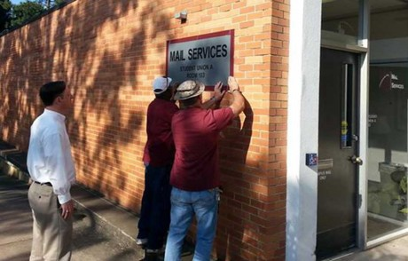 Mail Services' New Exterior Sign Installed