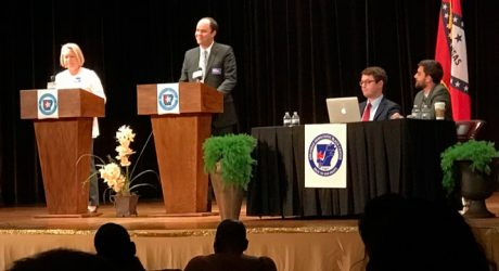 Photo of Breen at the Congressional Debate.