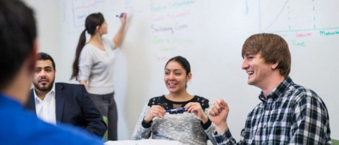 Students learning in classroom environment