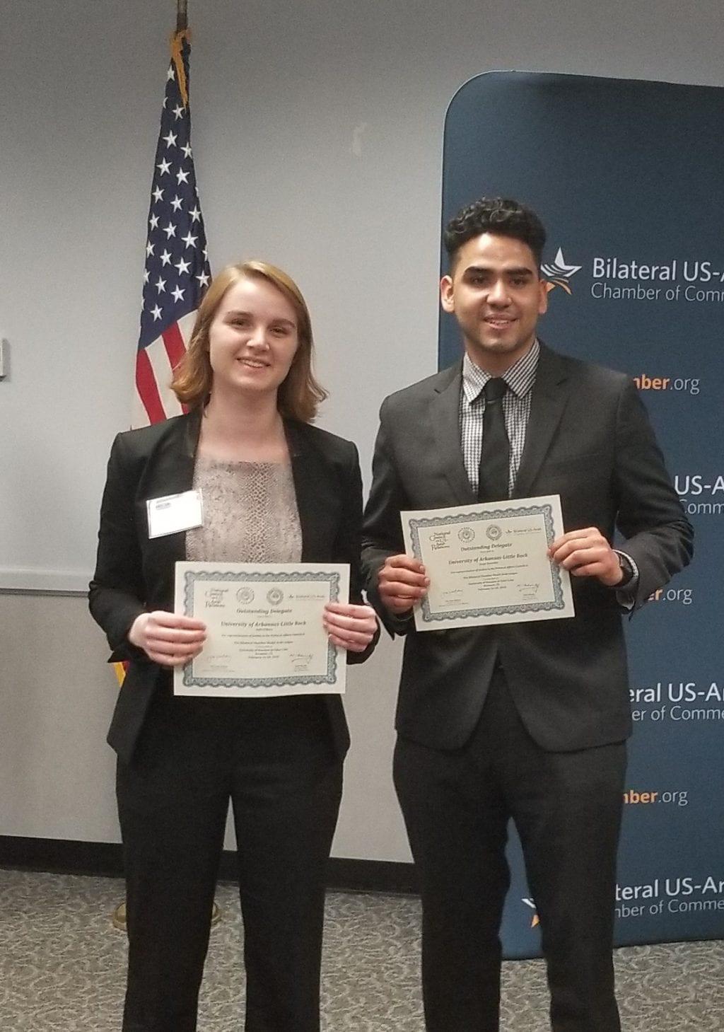 UA Little Rock students won award at Bilateral Model Arab League