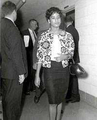 Bliss Ann Malone in 1961 during the Freedom Rides in Little Rock, Arkansas.