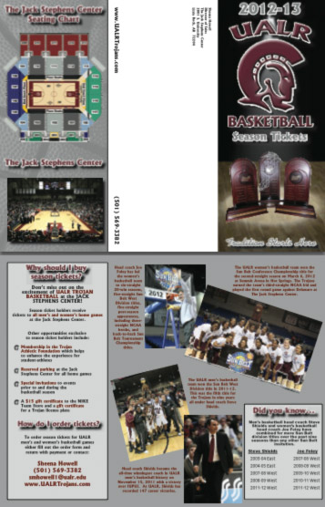 season ticket brochure