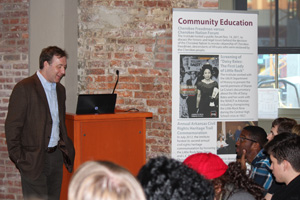 Dr. John Kirk explains Civil Rights in Arkansas to Indiana University Bloomington Students