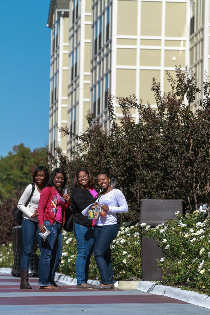 Students tour housing during Discover UALR day in October.