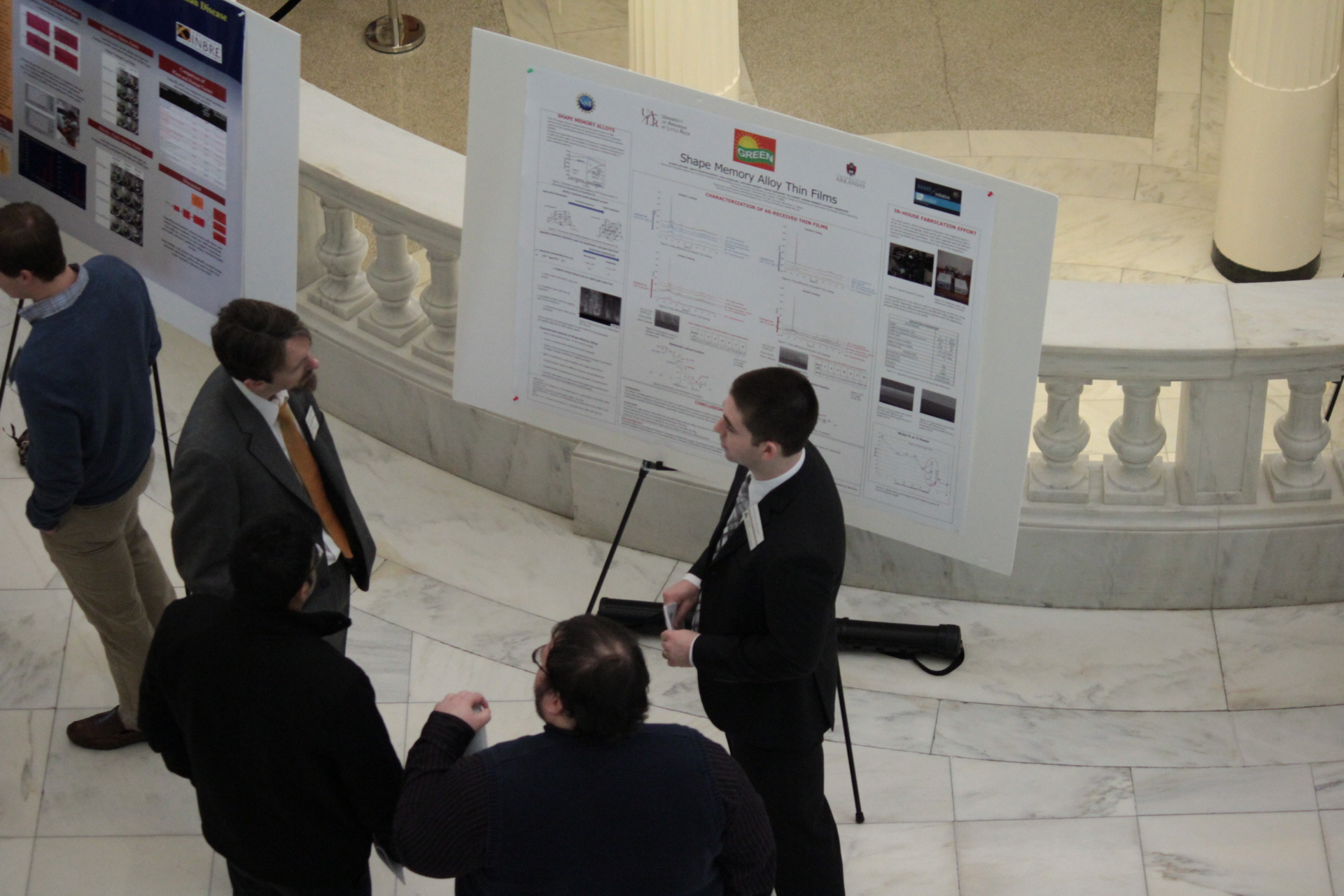 Anthony Keener presents his research at the STEM Posters at the Arkansas State Capitol 2013