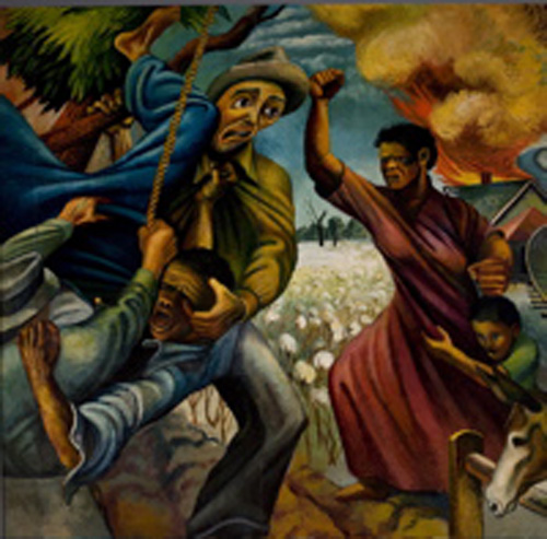 "Joe Jone's ""The Struggle of the South"" mural"