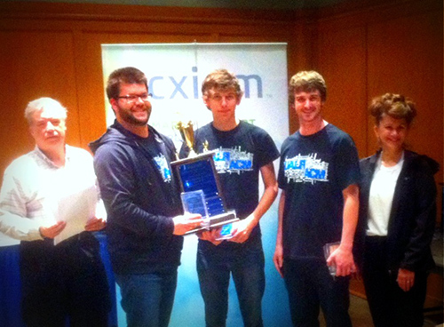 UALR students at Acxiom Competition