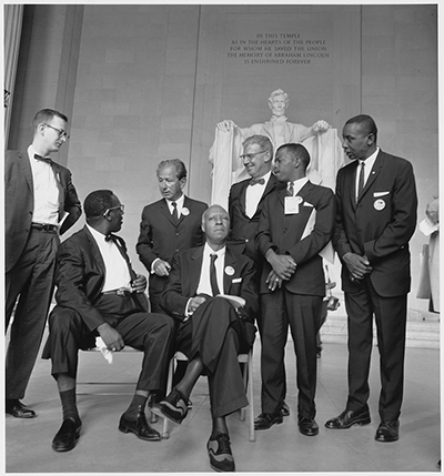 Leaders of the 1963 March on Washington, D.C. ( John Lewis is second from right). (U.S. National Archives and Records Administration)
