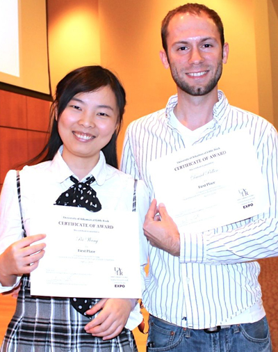 Engineering and Technology First Place Winners Pei Wang and Daniel Pullen