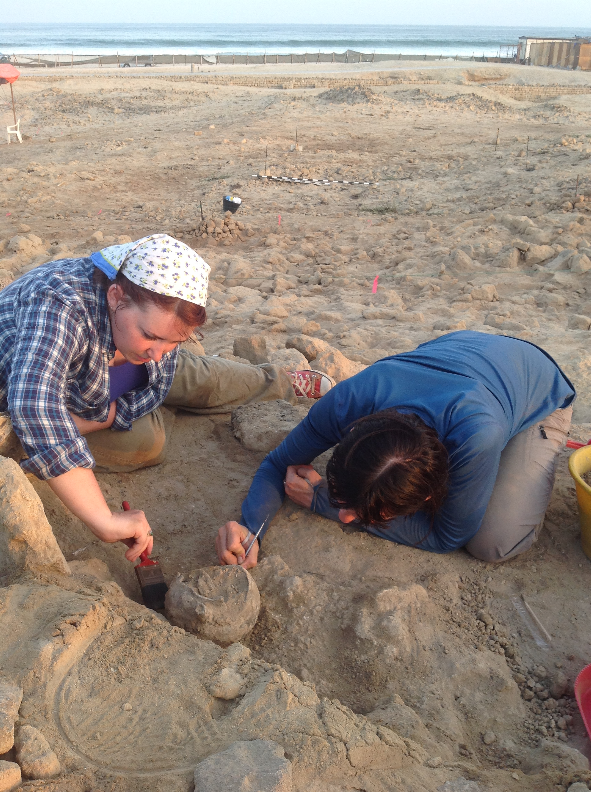 UALR student Deanna Holdcraft excavates in ancient ruins in Oman