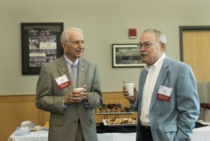 Members of the Heritage Society gathered during a September Coffee with the Chancellor event.