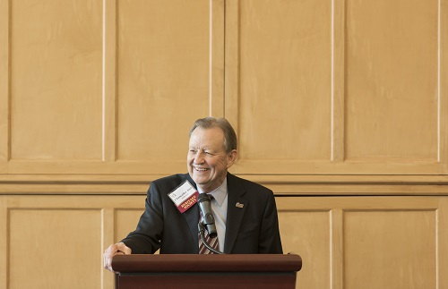 Chancellor Joel E. Anderson addresses the Heritage Society during a 2015 gathering