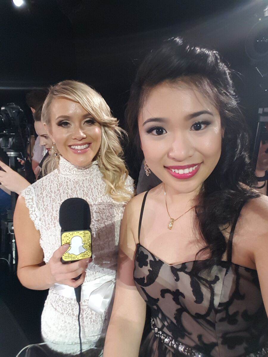 Cyrene Quiamco at the 2015 MTV Music Video Awards