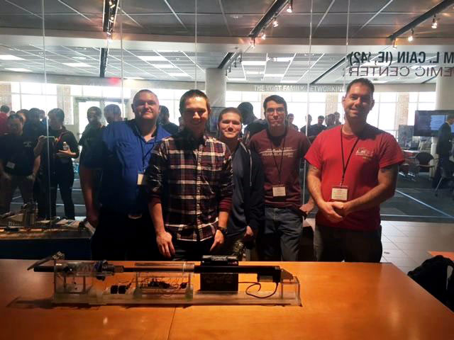 Members of UALR American Society of Mechanical Engineers (ASME) Student Chapter who participated in a recent competition