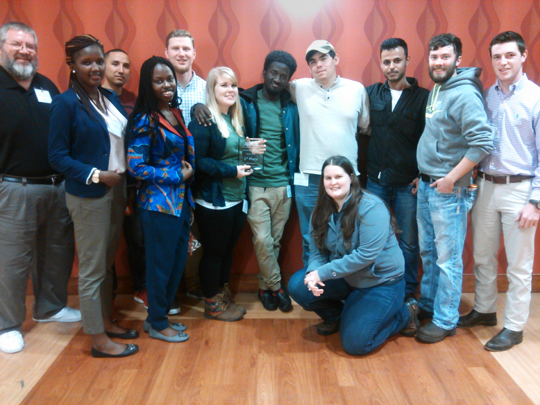 A group shot of the UALR students who attended the conference.