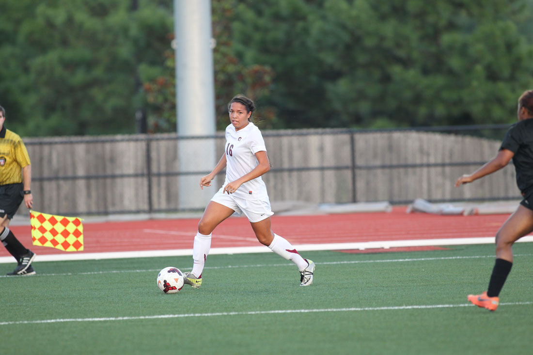 File photo of Little Rock Trojans soccer player Hali Long in action