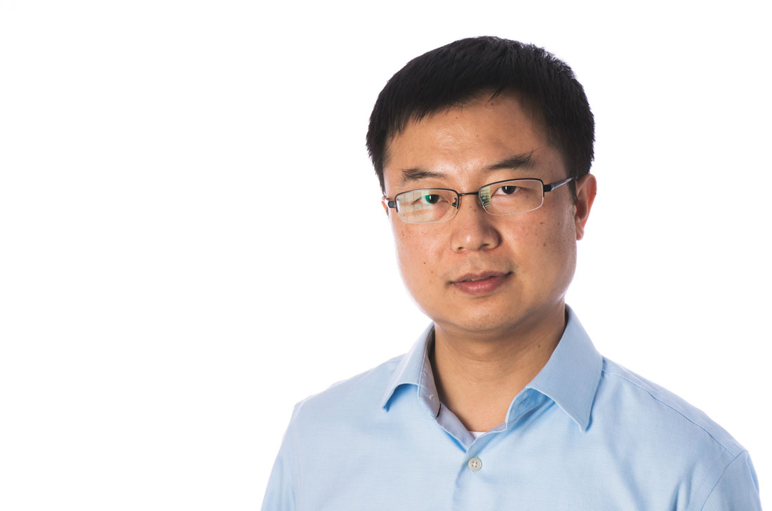 Dr. Mengjun Xie head shot. Xie will help launch a new cybersecurity program at UALR.