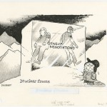 Old editorial cartoon on the Geneva negotiations and the prospect of a nuclear freeze