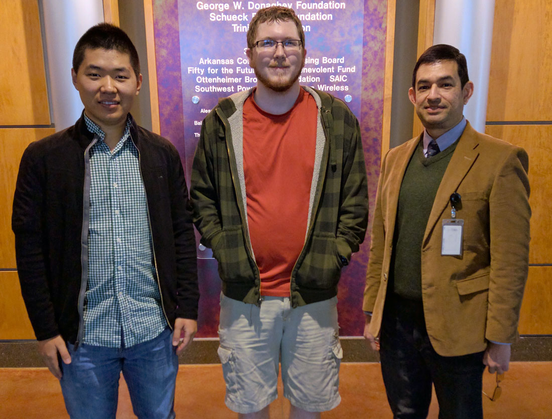 UALR cybersecurity team members included Yanyan Li, a fourth-year integrated computing doctoral student from China, Connor Young, a first-year integrated computing doctoral student from Springdale, Arkansas, and Hector Fernandez, a senior majoring in computer science from North Little Rock.