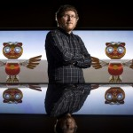 """Connor Young, a first-year integrated computing doctoral student from Springdale, is using his research in facial recognition to create """"WhoNu,"""" a virtual owl tour guide that will welcome guests at the Emerging Analytics Center,"""