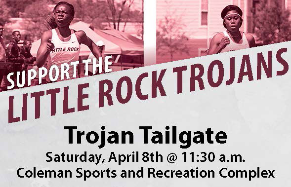 Community members can show their support for the University of Arkansas at Little Rock track and field team at 11:30 a.m. Saturday, April 8, at the Coleman Sports and Recreation Complex.