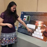 UA Little Rock student Diamond McGehee presents her research at a 2017 NASA conference in Washington, D.C.
