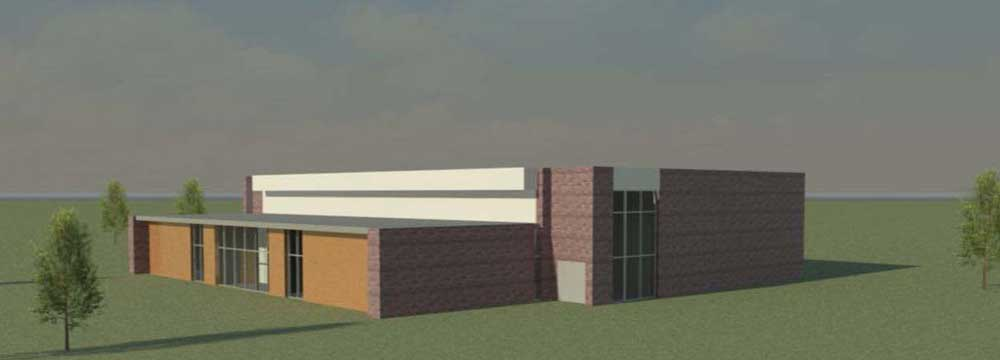 Rendering of a proposed tornado shelter designed by UA Little Rock students.