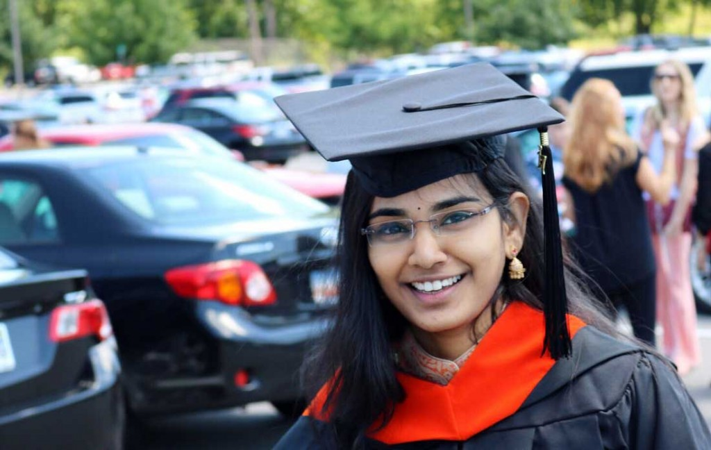 Jo Lankireddy graduated from the University of Arkansas at Little Rock May 13 at the Jack Stephens Center.
