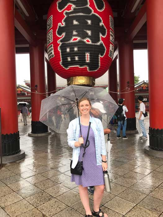 Bowen Law Student Amie Alexander interns with Foreign Agricultural Services in Tokyo, Japan.