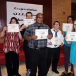 The ACCE graduates pictured, from left to right, include Charlee Brosh, Todd Hewitt, LaQuan Jones, David Dallas, Essense Hayes, and Shawn Morehart.