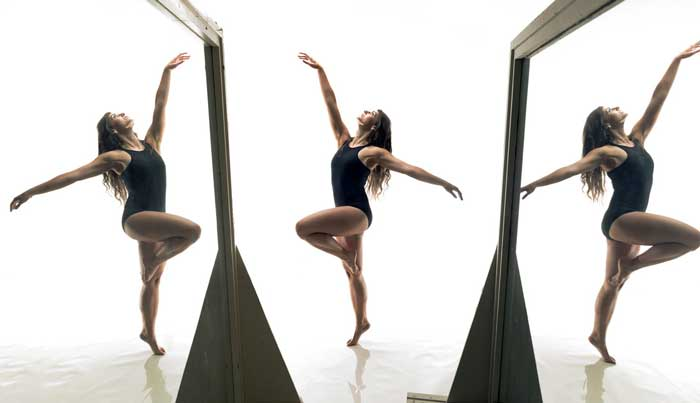 UA Little Rock dance student Taylor Jaggers performs in the Dance Studio.