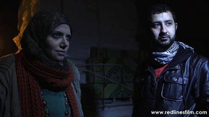Razan Shahab-al-Sham (left) and Mouaz Moustafa deliver mattresses and blankets to Syrian refugees taking shelter in Hacipasa, a village on the Turkish-Syrian border. Photo provided by Spark Media.