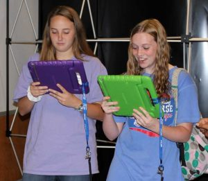 "Arkansas high school students learn how to use virtual reality apps developed by the UA Little Rock Emerging Analytics Center during the Sept. 26 ""Tech Take Over"" event."
