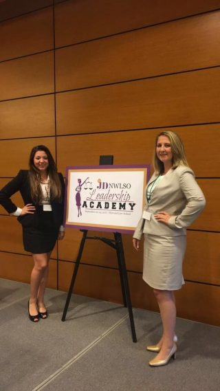 Bowen students Daina Rodriguez and Madison Pitts were two of only 50 female law students selected to attend the Ms. JD's National Women's Law Students Organization Leadership Academy Sept. 22-23 at Harvard Law School.
