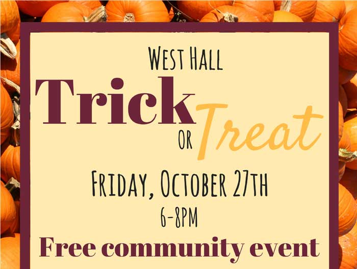 The University of Arkansas at Little Rock will host a free Halloween celebration for UA Little Rock employees, students, their families, and University District residents from 6-8 p.m. Friday, Oct. 27, in UA Little Rock's West Hall.
