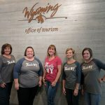 Jennifer Griswold (far right) with colleagues at the Wyoming Office of Tourism