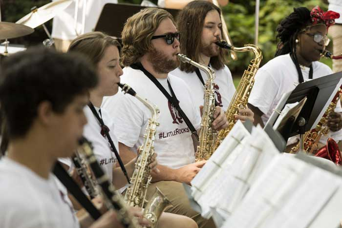 UA Little Rock musicians perform at the 2015 Burgers at Bailey.