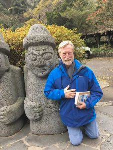 Michael Warrick visits a local temple on Jeju Island, South Korea.