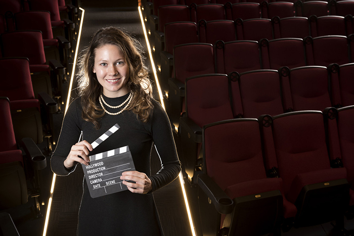 UA Little Rock graduate Sarah Miller manages the Central Arkansas Library System's Ron Robinson Theater.