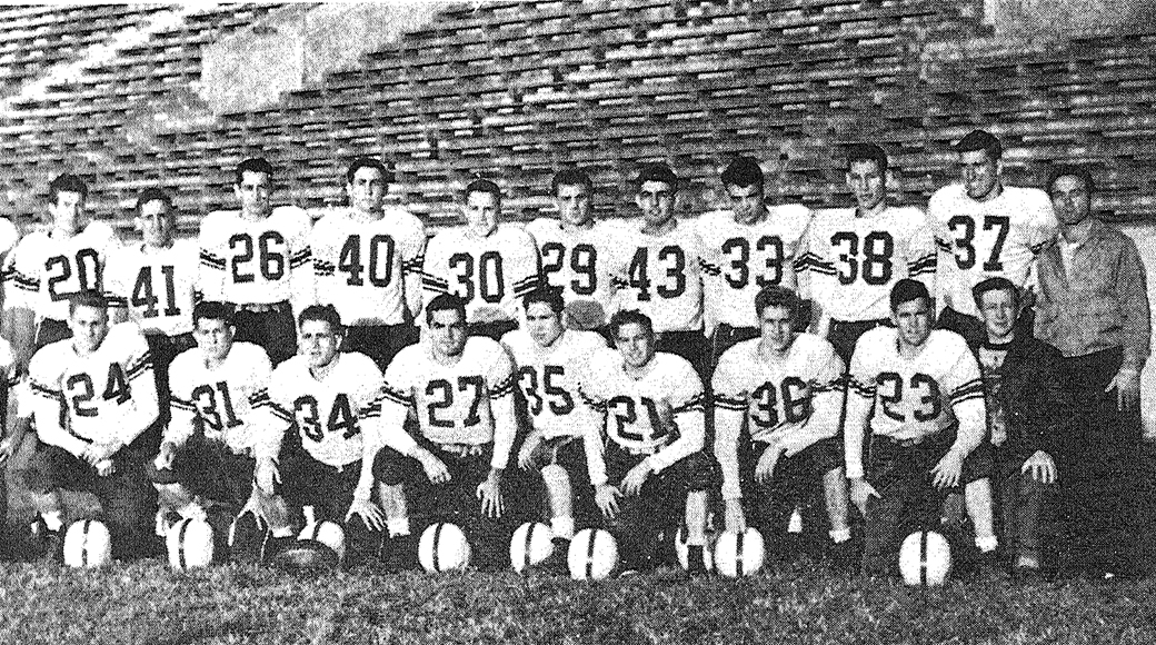 The UA Little Rock football team that attended the 1948 Sugar Bowl.