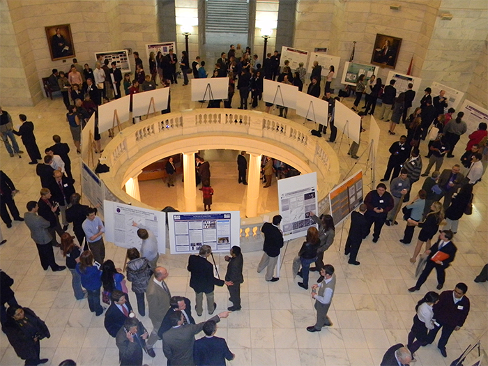 Student research posters at state Capitol