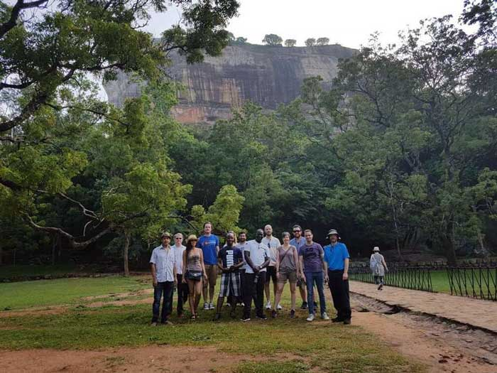 Members of the Justice, Conflict, and Development Network visit Sigiriya, an ancient rock fortress and World Heritage Site in Sri Lanka.