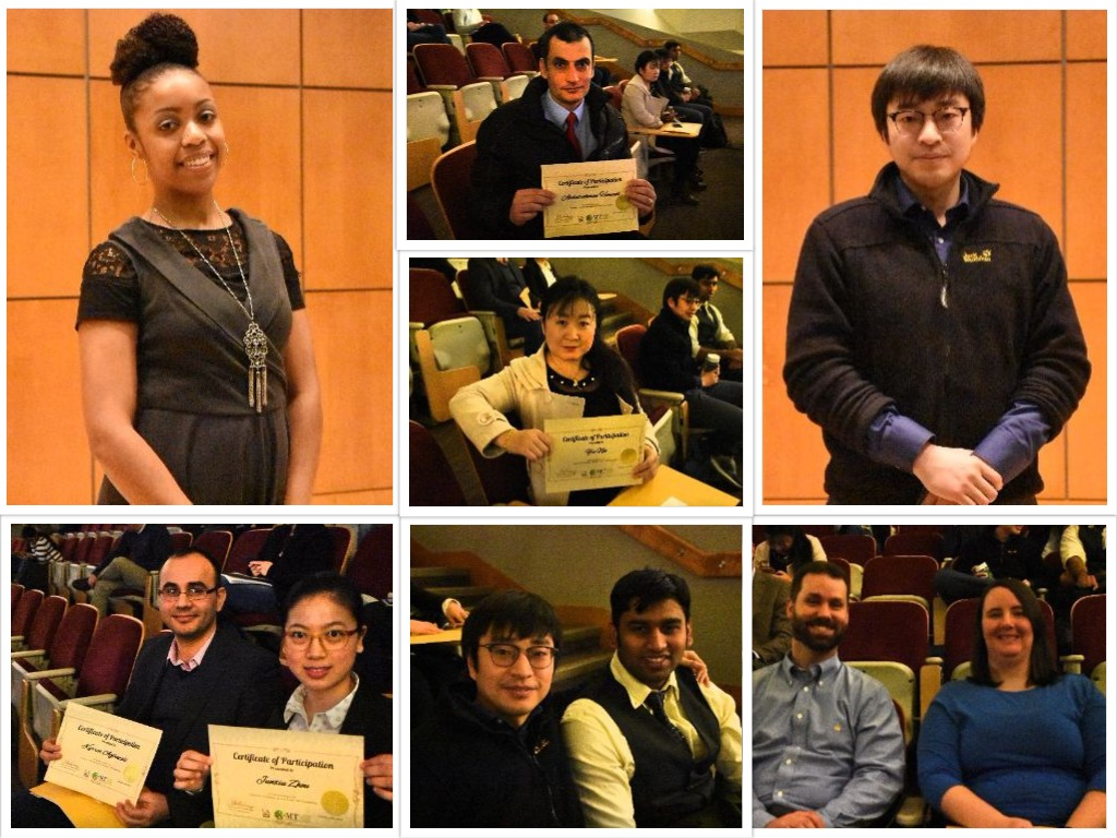 Competitors in the university's first 3MT competition.