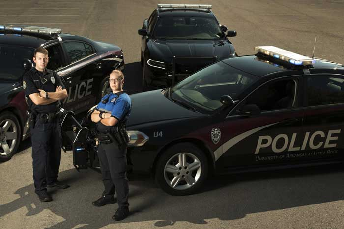 UA Little Rock police officers