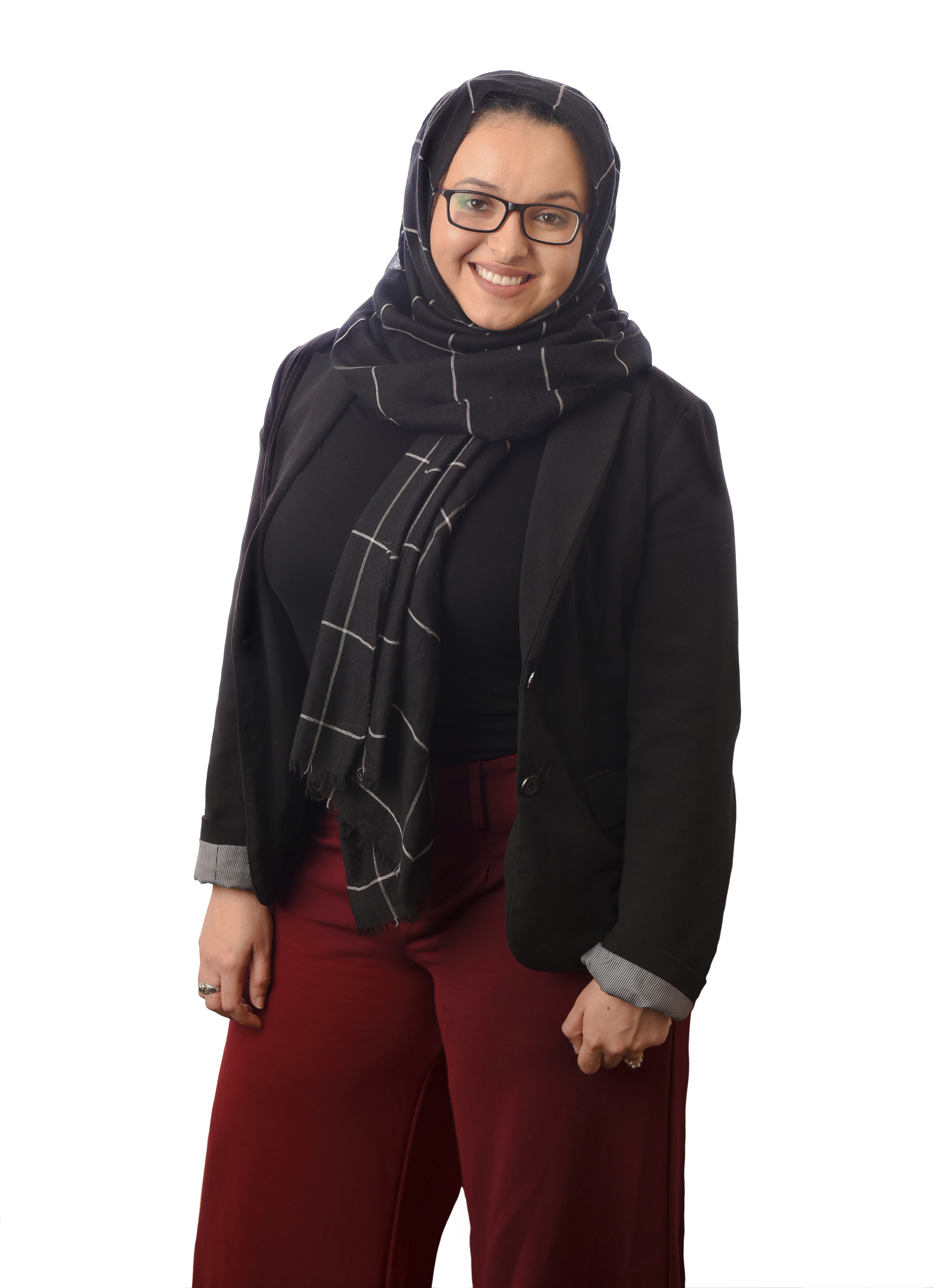 Photo by BENJAMIN KRAIN --03/26/18--Graduate student Nora Bouzihay brought the Human Library project to the UALR campus. Bouzihay is from Morocco and studied in Dubai.