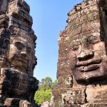 The Bayon temple in Angkor in Cambodia was one of many temples UA Little Rock students visited.