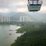 UA Little Rock students took in sites from cable cars in Hong Kong.