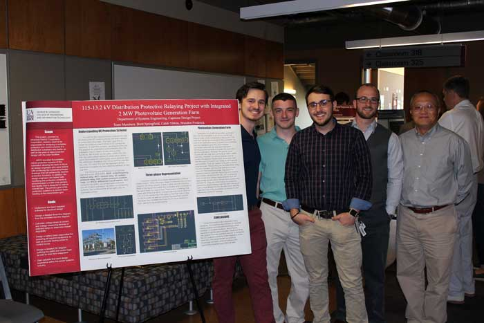 UA Little Rock students present research at the College of Engineering and Information Technology Open House on April 27.