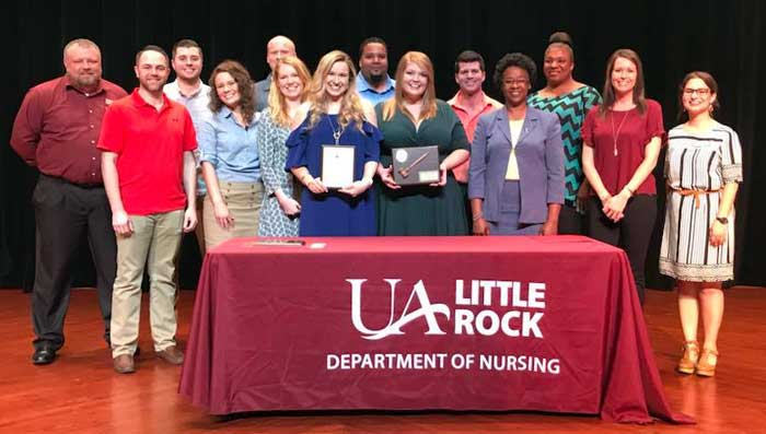 The University of Arkansas at Little Rock Department of Nursing honored this year's top students during an awards ceremony on May 4.