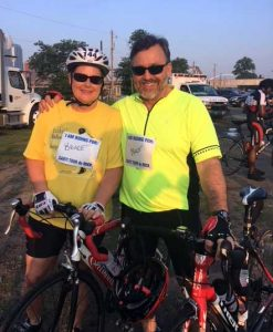 Layde Ann and Steve McClellan ride the Tour de Rock to raise money for CARTI in honor of Steve's brother, Bruce.